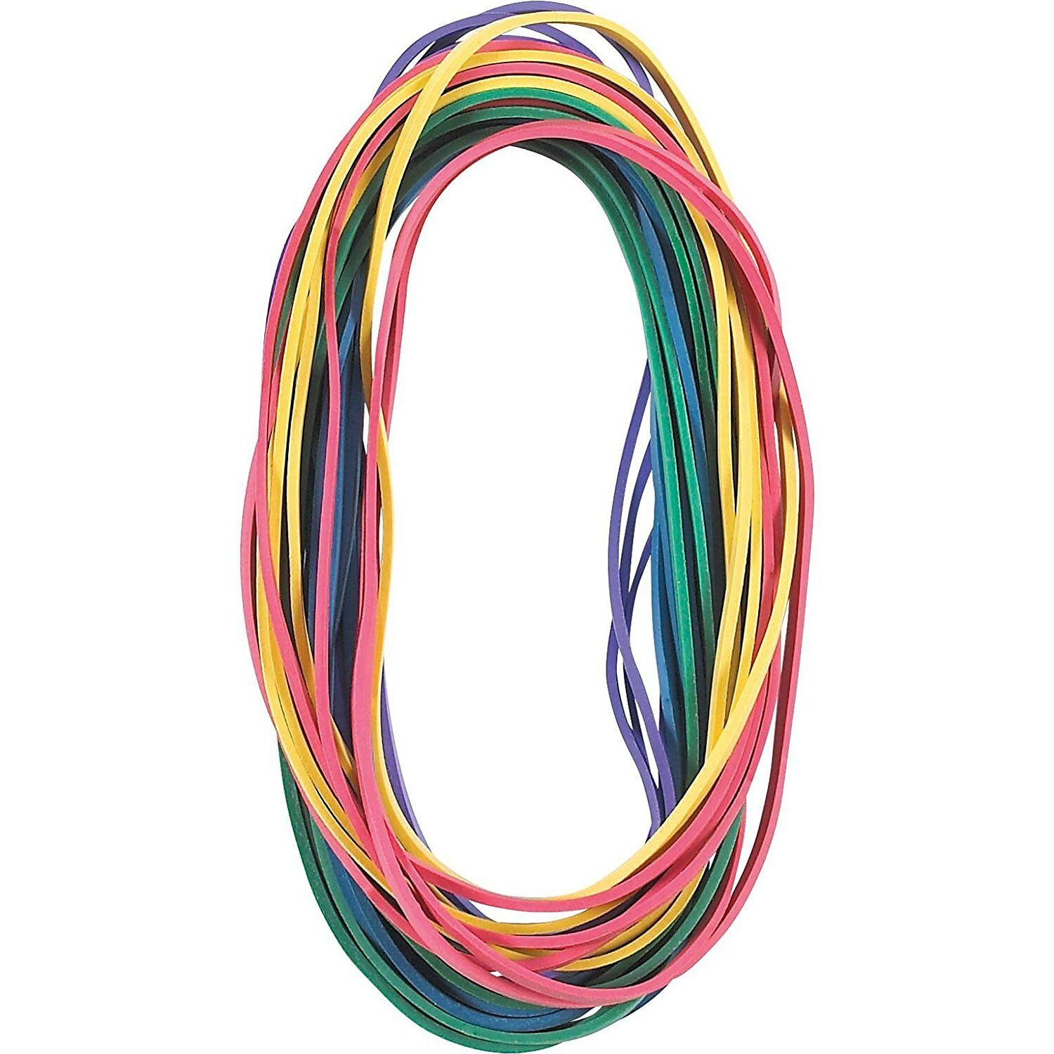 """Extra Large Rubber Bands in Assorted Colors, 7"""" x 1/8"""", 24/P"""