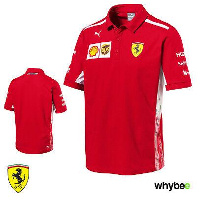 2018 Official Scuderia Ferrari Men's Polo Shirt F1 Formula One Team Genuine Puma