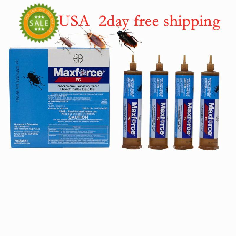 Maxforce FC Roach Control Bait 4 Tubes X 30 gram w/ plunger  **  FREE SHIPPING**