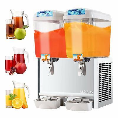 Commercial 4.8 Gal2 Tank Frozen Juice Beverage Dispenser Fruit Tea Cold Drink