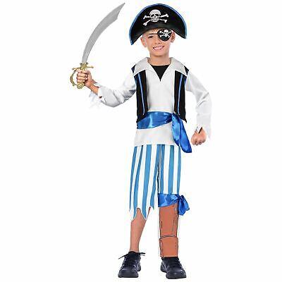 Kinder Kleinkind Piraten Kostüm Jungen Kapitän Hook Seeräuber Kostüm 9-11 Jahre
