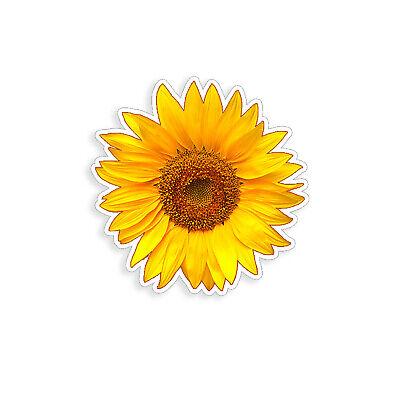 Sunflower Sticker Golden Yellow Flower Cup Cooler Laptop Car Window Bumper Decal - Golden Yellow Flower