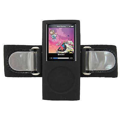 Ipod Nano Black Armband - IPOD NANO 4TH GENERATION ARMBAND CASE / BLACK