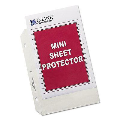 C-line Heavyweight Polypropylene Sheet Protector Clear 2 8 12 X 5 12 50bx
