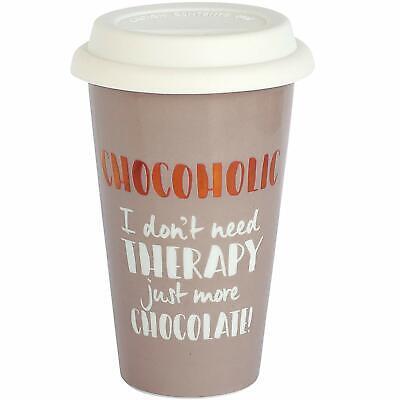 Ultimate Woman Gift - Ceramic Travel Mug - Chocoholic Mum Sister Gift  Ultimate Travel Mug