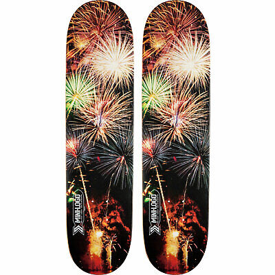2 Pack of Decks Mini Logo Skateboard Deck Small Bomb K15 Fireworks 8.5""