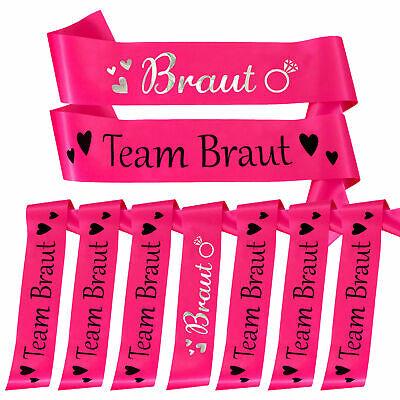 chärpe Set für Junggesellinnenabschied JGA Hen Party Pink (Party Für Jungen)
