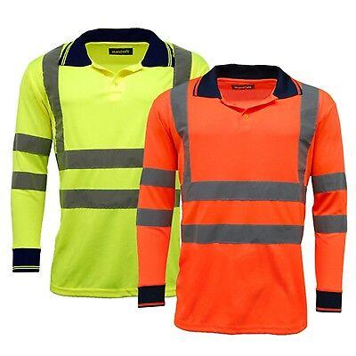 abbigliamento da lavoro alta visibilità Polo A Manica Lunga EN471 HV004 Camicie
