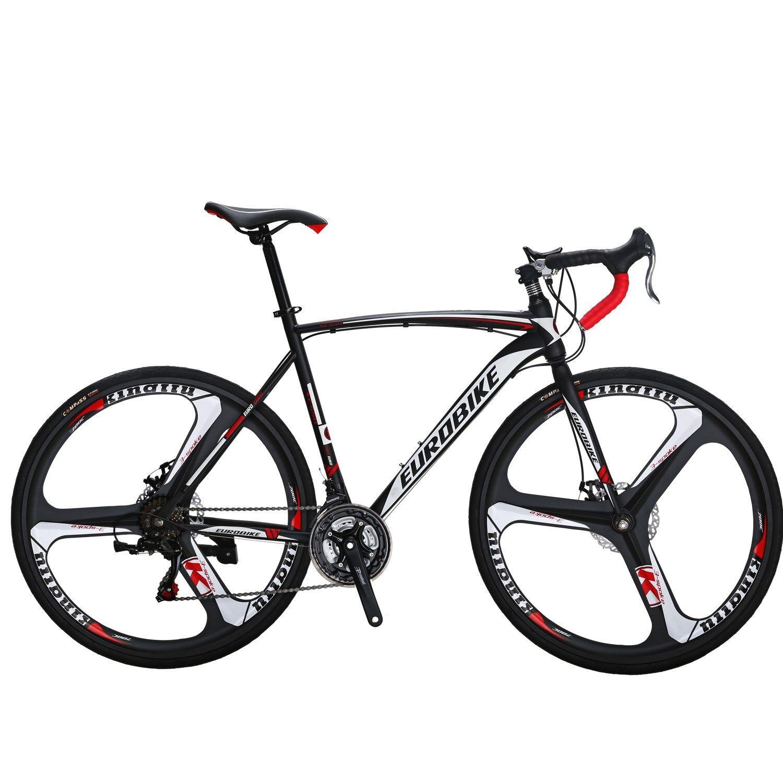 700C  Road Bike Shimano 16 Speed Racing Bicycle Carbon Frame 49cm Black Yellow