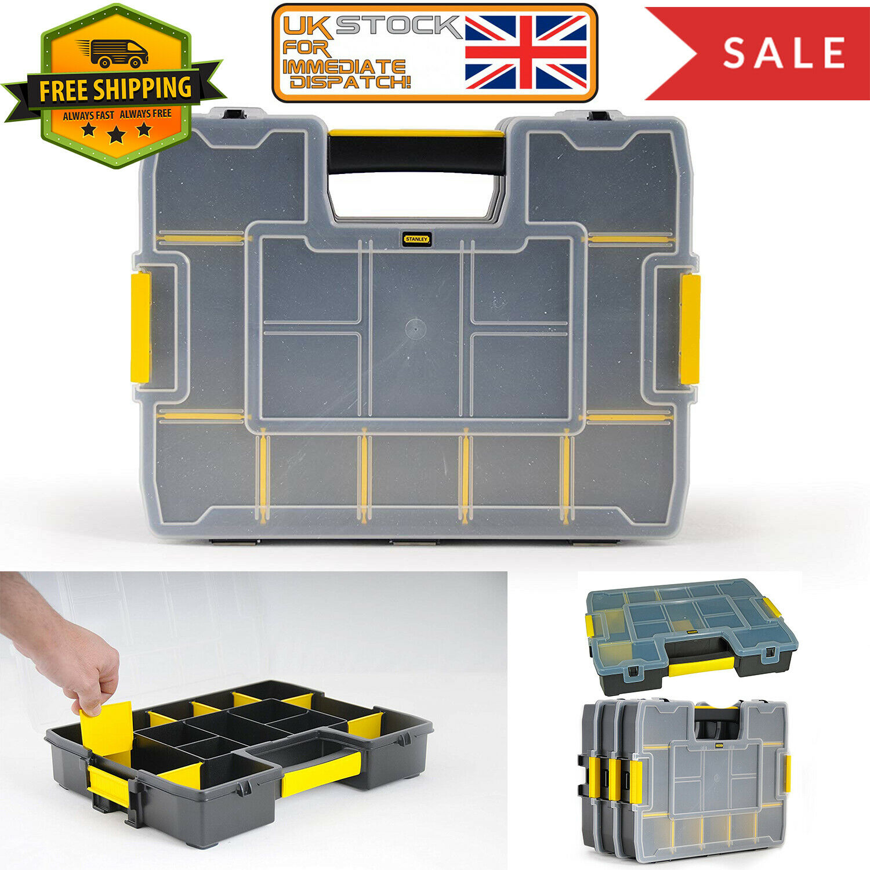 Stackable Tool Organiser Storage Case Toolbox DIY Screw Plastic Case Box Handle