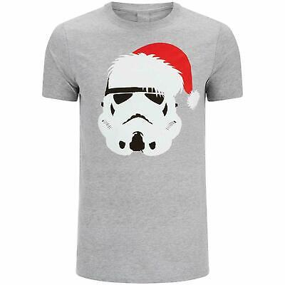 BRAND NEW MEN'S OFFICIAL STAR WARS STORMTROOPER XMAS T-SHIRT SIZE MEDIUM to XL