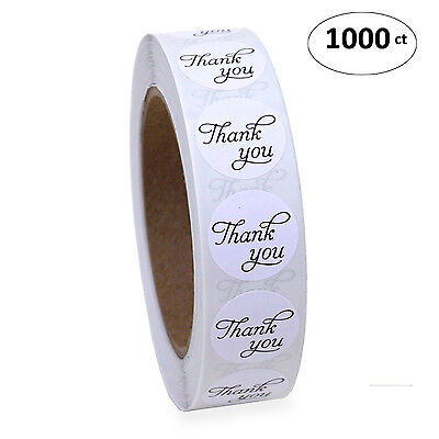 1  Round Thank You Sticker Script Calligraphy Print 1000 Adhesive Labels