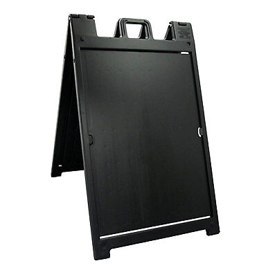Plasticade Deluxe Signicade Portable Folding Double Sided Sign Stand Black