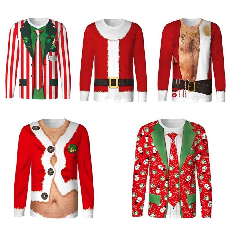 Unisex Mens Womens Ugly Christmas Sweatshirt Sweater Hoodie