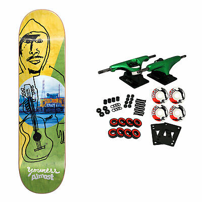 Almost Skateboard Complete Amrani Diagonal 8.25' Green Trucks