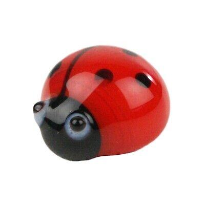 HomArt - Set of 5 Glass Ladybug - Red & Black