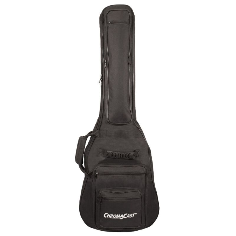 ChromaCast Electric Guitar 6-Pocket Padded Gig Bag Fits Most Electric Guitars