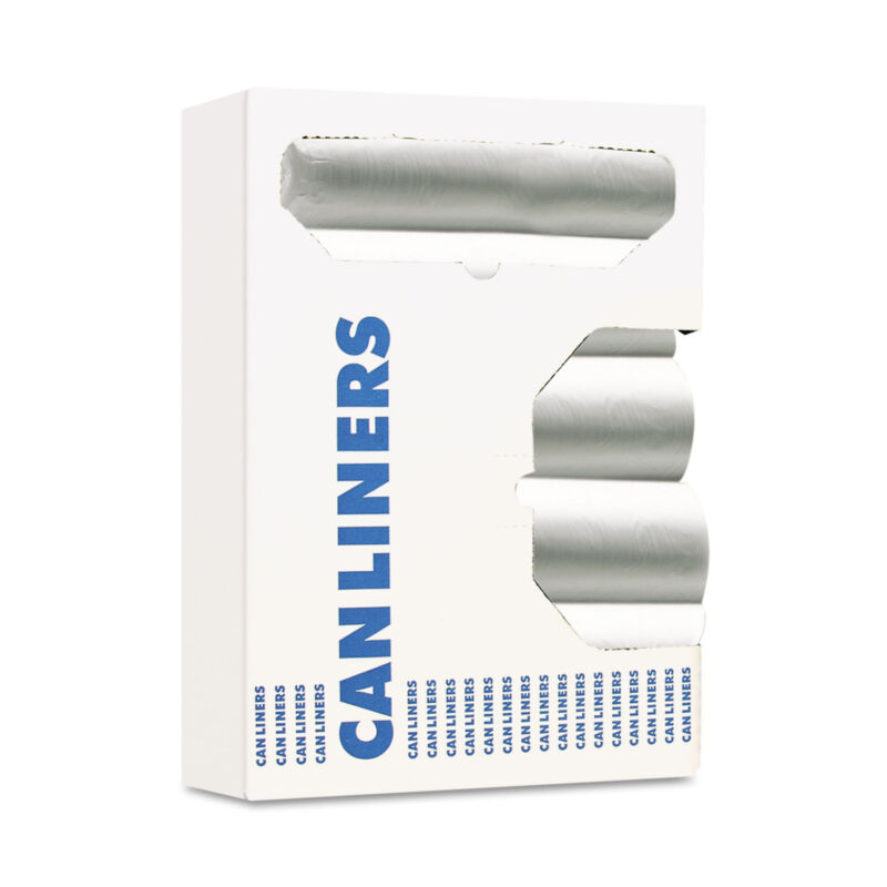 Boardwalk Can Liners 8-10gal 24 x 24 6 Microns Natural 50 Bags/Roll 20 Rolls