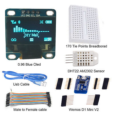 Starter Kits Esp8266 Wemos Weather Station Kit Iot With Oled For Arduino