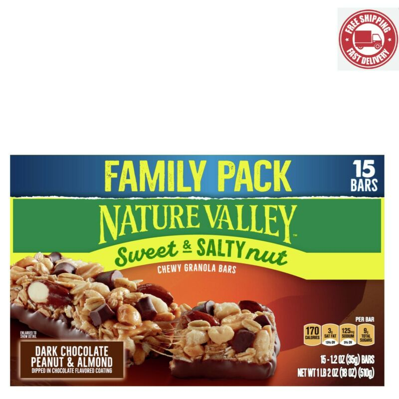Nature Valley Sweet and Salty Nut Granola Bars Dk Choc Peanut and Almond 15 CT