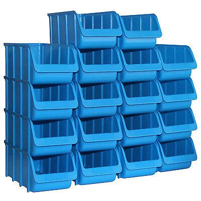 18x Sichtbox PP Größe 3/L blau PRO NEU 18er Set Sichtboxen Werkstatt-Lagerboxen