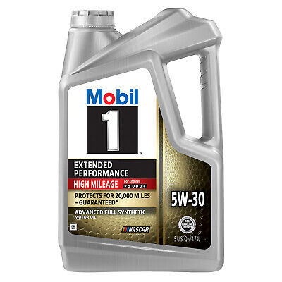 Mobil 1 Extended Performance High Mileage Full Synthetic Motor Oil 5W-30, 5 Quar