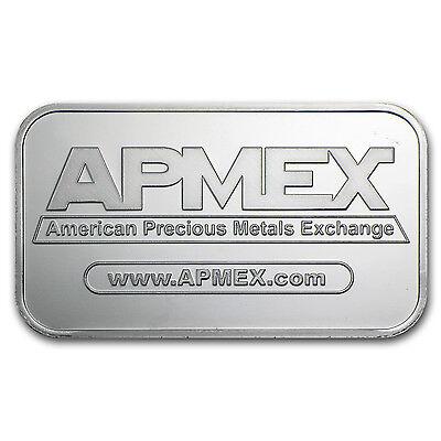 1 oz Silver Bar - APMEX (Lot of 10) - SKU #81774