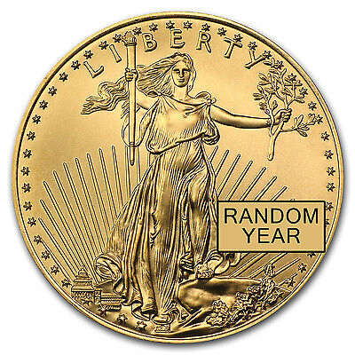 Random Year 1 oz Gold American Eagle BU - SKU #84672