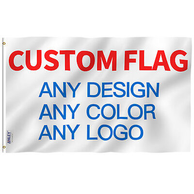 Anley Double Sided Custom Flag 3x5 Ft Print Your Own Design Customized Two