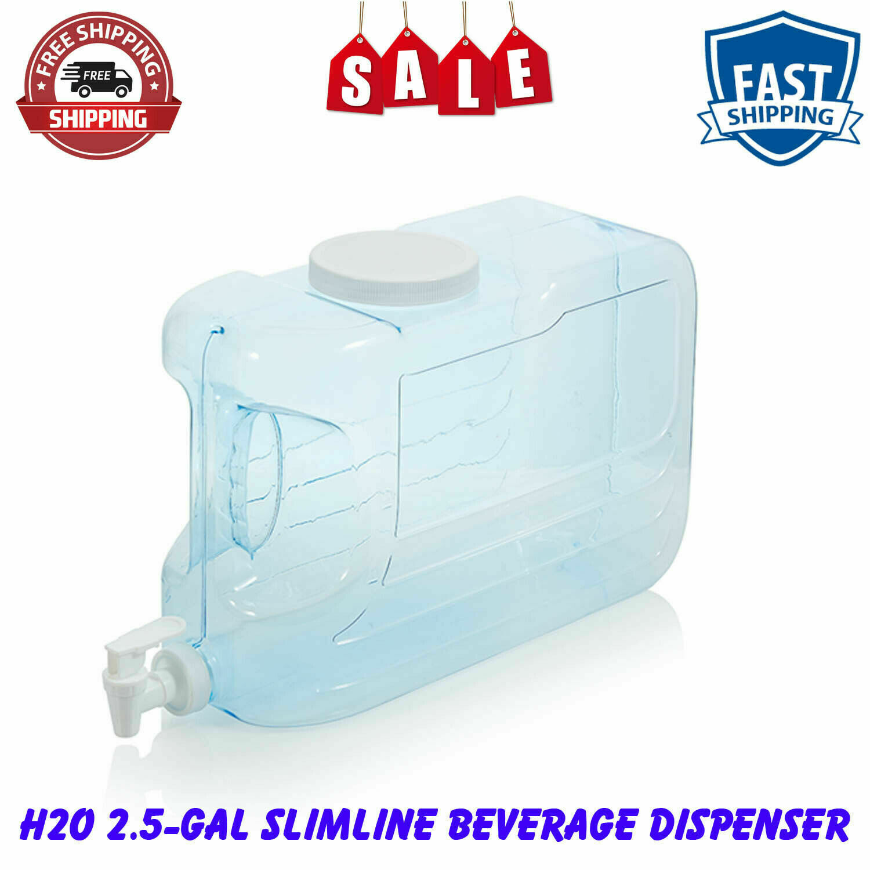 2 Pack - 2.5-Gal Slimline Beverage Dispenser Blue BPA-free S
