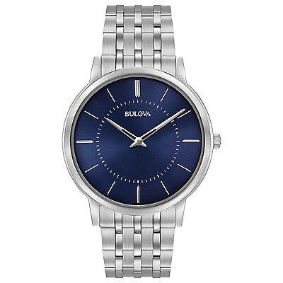 Bulova Mens 96A188 Classic Collection Quartz Blue Dial 40Mm Bracelet Watch