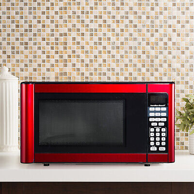 red 1 1 cu ft kitchen microwave
