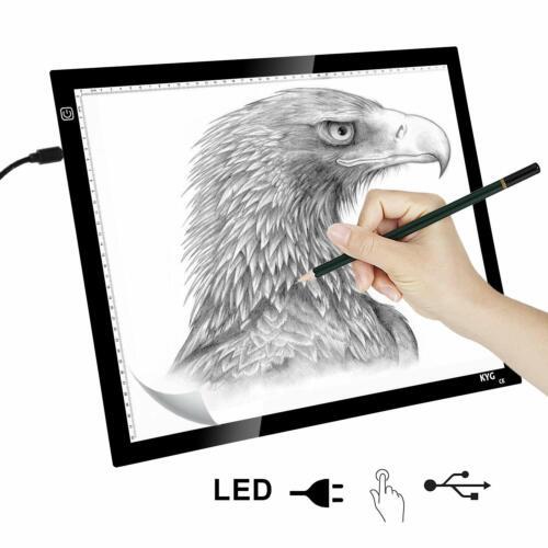 LED A3 A4 Lichttisch Leuchttisch Leuchttablett dimmbar Leuchtplatte Grafiktablet