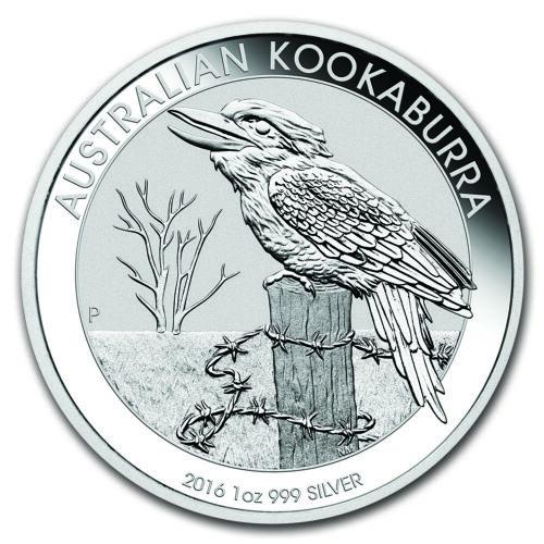 2016 Australia 1 oz Perth .999 Silver Kookaburra (from mint roll)
