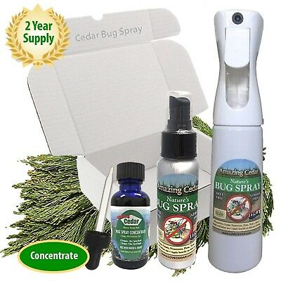 Bug Spray Natural Cedar Oil No DEET Insect Repellent Spray Kit Made with Orga... ()