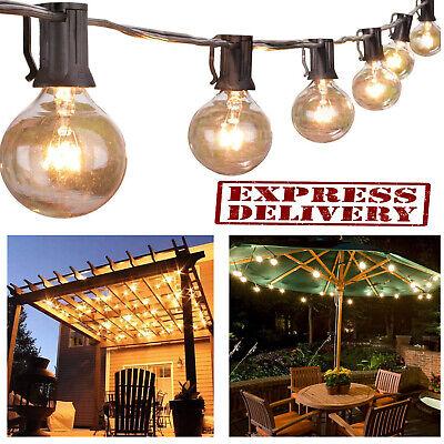 Outdoor Globe String Lights (Outdoor String Lights G40 Globe Bulbs Patio Yard Garden Waterproof Lighting)