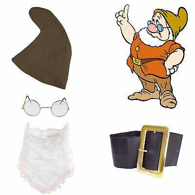 Snow White Seven Dwarfs Fancy Dress DOC SET Hat Beard Belt & Glasses Fairy Tale - Seven Dwarfs Fancy Dress Costumes