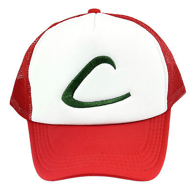 Cosplay-Pokemon Pocket Monster Ash Ketchum Snapback Baseball Cap Hat Mütze Kappe