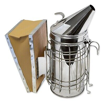 Bee Hive Smoker Stainless Steel Wheat Shield Beekeeping Equipment