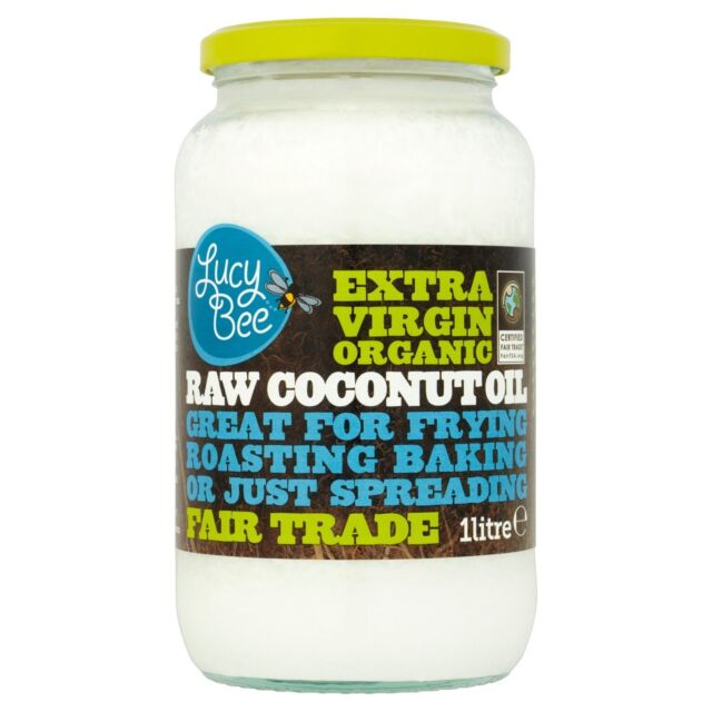 Lucy Bee Extra Virgin Organic Raw Fair Trade Coconut Oil 1 Litre