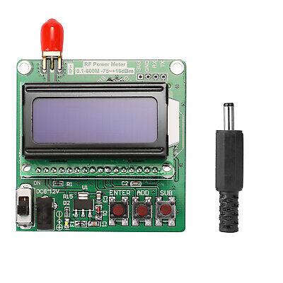Lcd Backlight Digital Rf Power Meter Module -7516dbm 0.1-600mhz Radio F1b8
