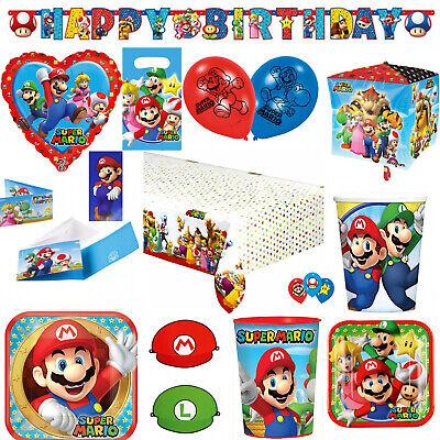 dergeburtstag Deko Party Auswahl Dekoration Luigi Teller (Mario Bros Party Dekorationen)