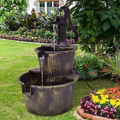 Zen Garden Water Fountain Pump Outdoor Indoor Porch Patio Cascading -