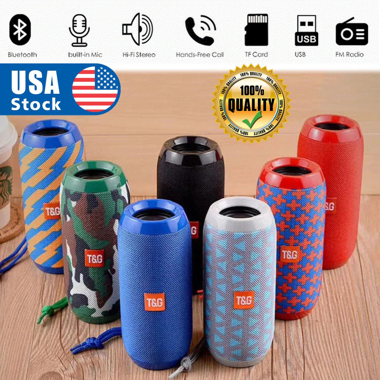 USA Bluetooth Speaker Wireless Waterproof Outdoor Stereo Bass USB/TF/MP3 Player Audio Docks & Mini Speakers
