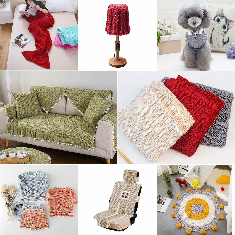 Crochet Hook Set Kit Yarn Knitting Needles Ergonomic Plastic Metal Supplies Crafts
