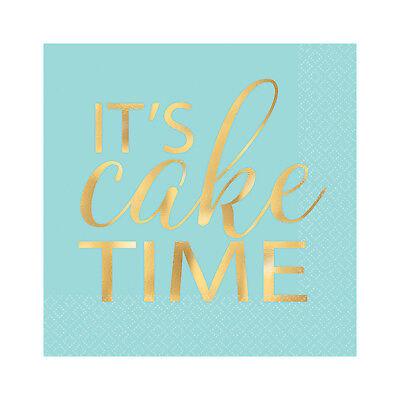 Its Kuchen Zeit Geburtstag Getränke Servietten Pastell Konfetti Spaß Range