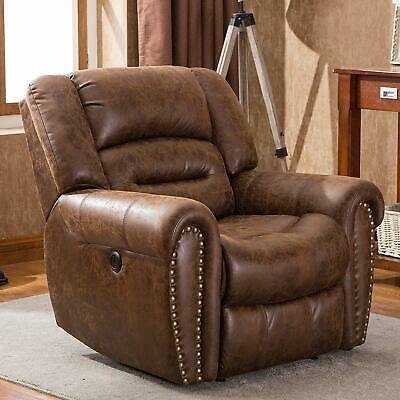 Power Recliner Chair Traditional Sofa Breathable Bonded Leather Sofa W/USB Port