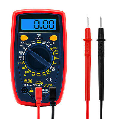 Digital Multimeter Multi Tester Voltmeter Ammeter Ohmmeter With Lcd Back Light