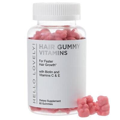 Hair Gummy Vitamins For Faster, Stronger, Healthier Hair Growth - 60 Gummies