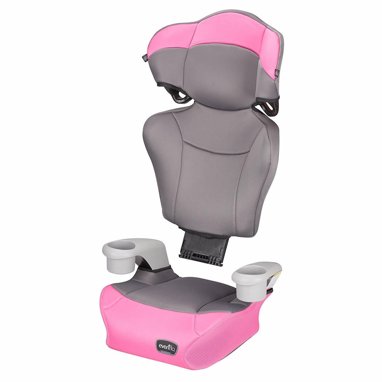 Evenflo Big Kid High Back Booster Car Seat - Pink Dove